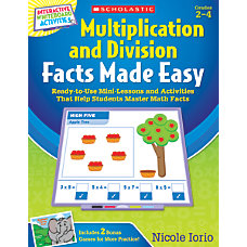 Scholastic Multiplication And Division Facts Made