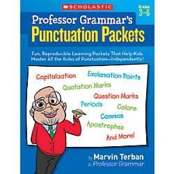 Scholastic Professor Grammars Punctuation Packets