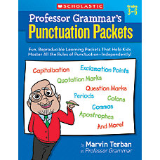 Scholastic Professor Grammars Punctuation Packets