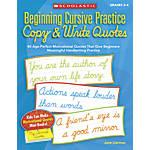 Scholastic Beginning Cursive Practice Copy Write