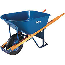WHEELBARROW 6 CU FT STEEL FLAT