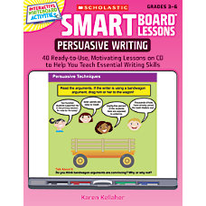 Scholastic SMART Board Lessons Persuasive Writing