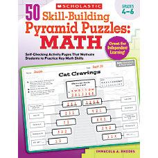 Scholastic 50 Skill Building Pyramid Puzzles