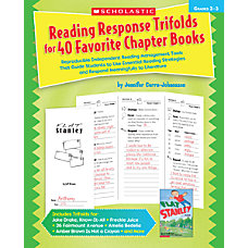 Scholastic Reading Response Trifolds For 40