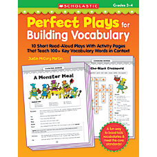 Scholastic Perfect Plays For Building Vocabulary