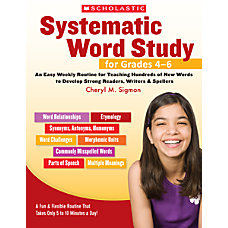 Scholastic Systematic Word Study For Grades