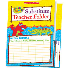 Scholastic Jingle Jungle Substitute Teacher Folder