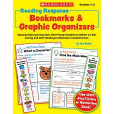 Scholastic Reading Response Bookmarks Graphic Organizers