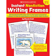 Scholastic Instant Nonfiction Writing Frames