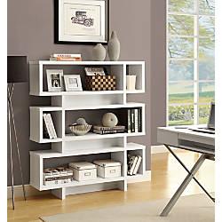 Monarch Specialties 3 Shelf Modern Bookcase