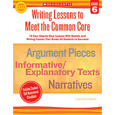 Scholastic Writing Lessons To Meet The