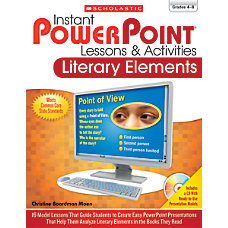 Scholastic Instant PowerPoint Lessons Activities Literary