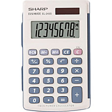 Sharp EL243SB Handheld Calculator Auto Power