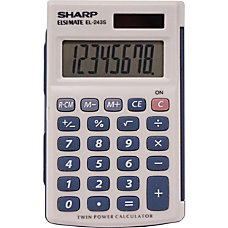 Sharp Calculators EL243SB Handheld Calculator Auto