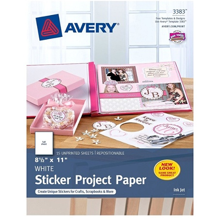 Avery Sticker Project Paper    X  White Pack Of  By - Office depot window decals template