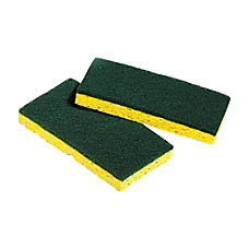 Unisan Medium Duty Scrubbing Sponges GreenYellow