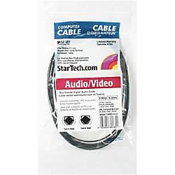 StarTechcom Digital SPDIF audio cable optical