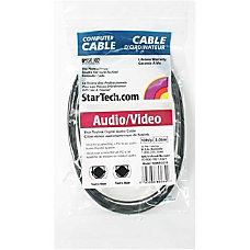 StarTechcom Digital SPDIF audio cable optical