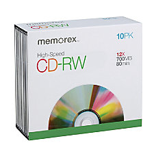 Memorex High Speed CD RW Media