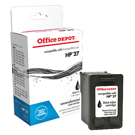 Office depot brand 27 hp 27 remanufactured black ink cartridge by office depot officemax - Office depot printing prices ...