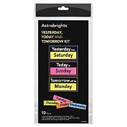 Astrobrights Magnetic Yesterday TodayTomorrow Kit ThemeSubject