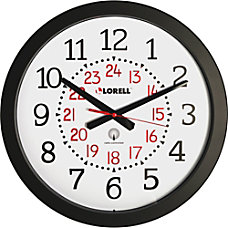 Lorell Radio Controlled Wall Clock Digital