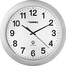 Lorell Radio Controlled Wall Clock Analog