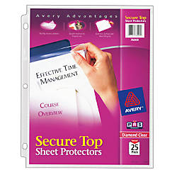 Avery Secure Top Sheet Protectors Super