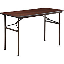 Lorell Laminate Economy Folding Table 24