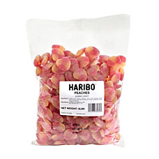 Haribo Gummies Peaches 5 Lb Bag