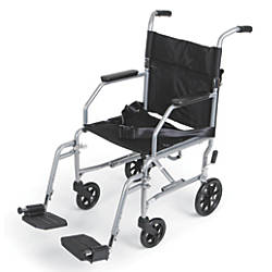 Medline Basic Steel Transport Chair 17