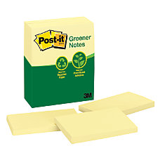 Post it 100percent Recycled 3 x