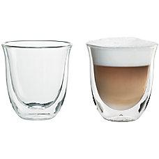 DeLonghi Cappuccino Glasses 25 Oz Glass