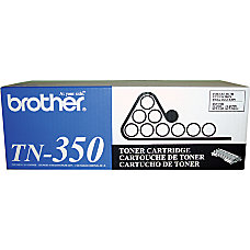 Brother TN 350 Black Toner Cartridge