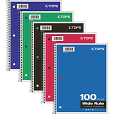 TOPS 1 Subject Notebook 100 Sheets