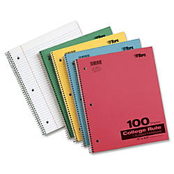 TOPS Wirebound 100 Sheet College Ruled