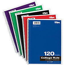 TOPS 3 Subject Notebook 120 Sheets