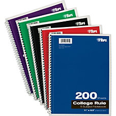 TOPS 5 Subject Notebook 200 Sheets