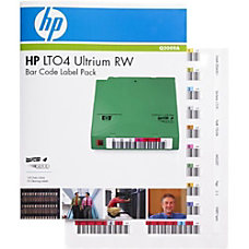 HP RW Bar Code Label