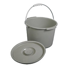 Medline Commode Buckets Gray Case Of