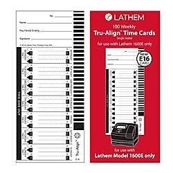 Lathem TruAlign E16 Time Cards For