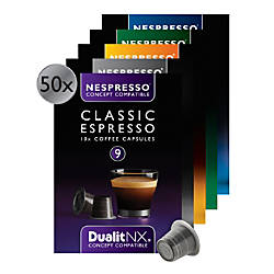 dualit nx nespresso coffee capsules variety pack box of 50 by office depot officemax. Black Bedroom Furniture Sets. Home Design Ideas
