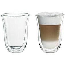 DeLonghi Latte Glasses 75 Oz Glass