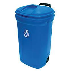 United Solutions Rectangular Polypropylene Wheeled Recycling