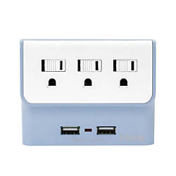 iHome Trio Multicharge Power Adapter Blue