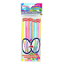 LNI Color Change Flexible Straws Assorted