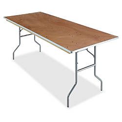 Iceberg Natural Plywood Rectangular Folding Table