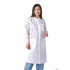Medline Multilayer Lab Coats With Knit