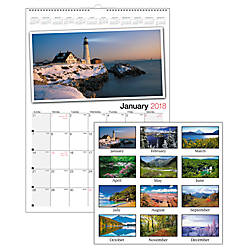 Office Depot Brand Photographic Wall Calendar