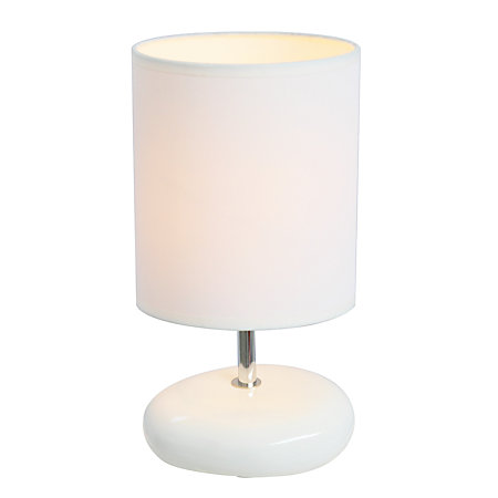 Simple designs stonies bedside table lamp 10 12 h white Simple bedside table designs